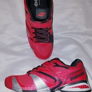 BABOLAT Propulse 4 Pink Red Tennis Shoes 7 for sale